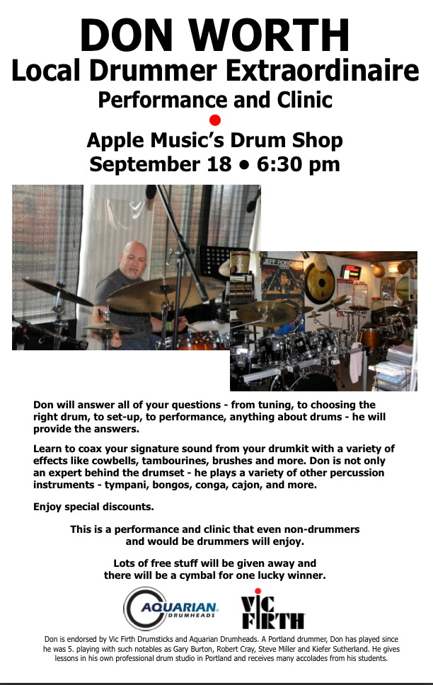 Don Worth Drum Clinic Promo